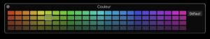 La palette de couleurs de Logic Pro X 10.3