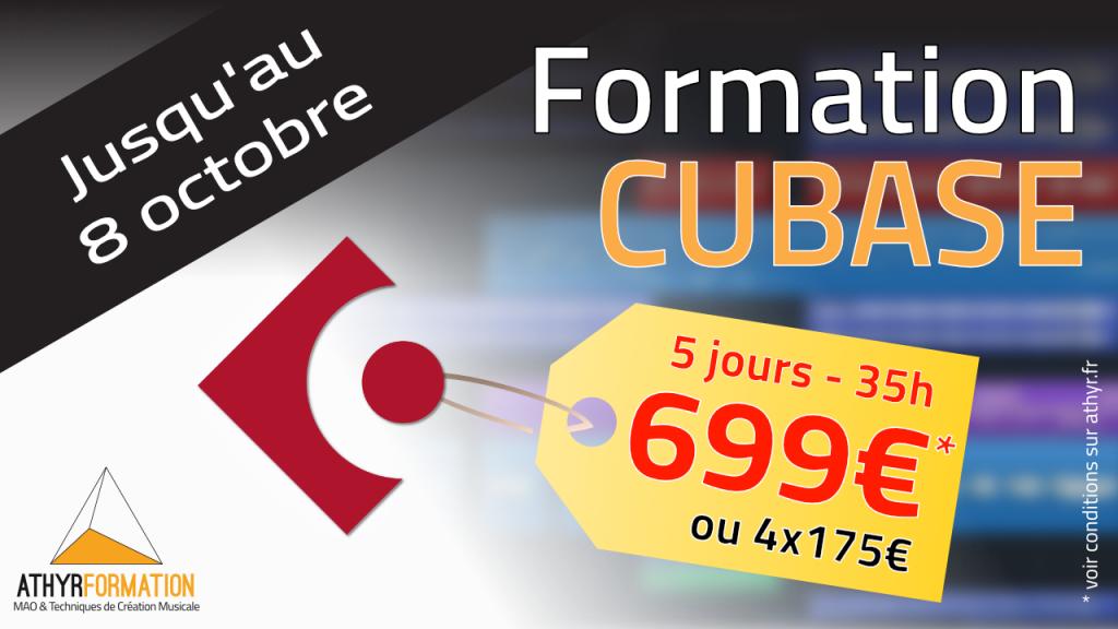 La formation Cubase à 699€ seulement !