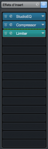 Cubase Pro 9.5 - Inserts