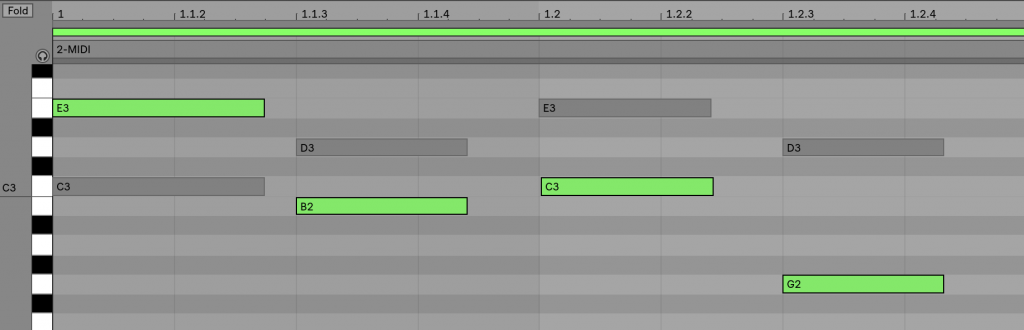 Edition MIDI de clips multiples