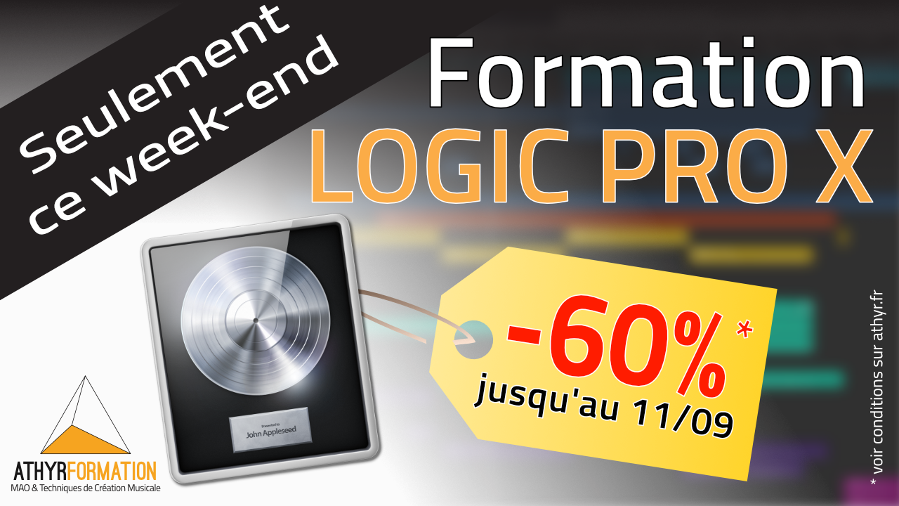-60% sur votre formation Logic Pro X